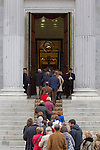 Hundreds of citizens attend the funeral chapel of former Spanish Prime Minister Adolfo Suarez in the Spanish Parliament in Madrid, Spain. March 24, 2014. (ALTERPHOTOS/Victor Blanco)