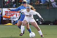 COLLEGE STATION, TX - DECEMBER 4:  Camille Levin of the Stanford Cardinal during Stanford's 2-1 (OT) win over the UCLA Bruins in the NCAA Women's Soccer Championships semi-finals on December 4, 2009 in College Station, Texas.