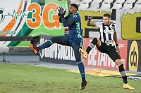 Rio de Janeiro (RJ), 24/03/2021 - Botafogo-Flamengo - Hugo Souza goleiro do Flamengo,durante partida contra o Botafogo,válida pela 5ª rodada da Taça Guanabara,realizada no Estádio Nilton Santos (Engenhão), na zona norte do Rio de Janeiro,nesta quarta-feira (24).