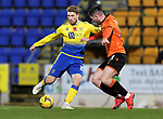 St Johnstone v Dundee United…10.11.20   McDiarmid Park      BetFred Cup<br />David Wotherspoon and Calum Butcher<br />Picture by Graeme Hart.<br />Copyright Perthshire Picture Agency<br />Tel: 01738 623350  Mobile: 07990 594431