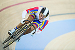 Cyclist competes during the Hong Kong's Track Cycling World Cup 2016 on January 15, 2016 at the Hong Kong Velodrom in Hong Kong, China. Photo by Aitor Colomer / Power Sport Images