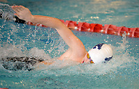 Springdale Har-Ber's Conner Boatright competes Saturday, Feb. 13, 2021, in the 200-yard freestyle during the Class 6A-West Conference Swim Championships at the Jones Center in Springdale. Visit nwaonline.com/210214Daily/ for today's photo gallery. <br /> (NWA Democrat-Gazette/Andy Shupe)