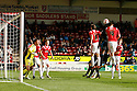 Lucas Akins of Stevenage heads wide<br />  - Walsall v Stevenage - Sky Bet League One - Banks's Stadium, Walsall - 19th October 2013. <br /> © Kevin Coleman 2013