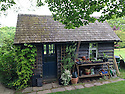Garden shed, late May