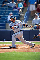 Detroit Tigers designated hitter Miguel Gonzalez (70) at bat during a Spring Training game against the New York Yankees on March 2, 2016 at George M. Steinbrenner Field in Tampa, Florida.  New York defeated Detroit 10-9.  (Mike Janes/Four Seam Images)