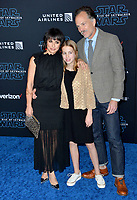 "LOS ANGELES, USA. December 17, 2019: Constance Zimmer, Russ Lamoureux & Colette Zoe Lamoureux at the world premiere of ""Star Wars: The Rise of Skywalker"" at the El Capitan Theatre.<br /> Picture: Paul Smith/Featureflash"