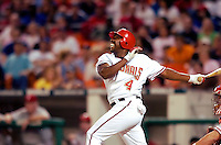 3 September 2005: Deivi Cruz, infielder for the Washington Nationals, at bat during a game against the Philadelphia Phillies. The Nationals defeated the Phillies 5-4 at RFK Stadium in Washington, DC. <br />