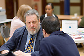 Councillor Barrie Taylor holds an advice surgery at a Healthy Futures event at the Beethoven Centre, Queens Park