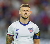 DALLAS, TX - JULY 25: Paul Arriola #7 of the United States during a game between Jamaica and USMNT at AT&T Stadium on July 25, 2021 in Dallas, Texas.