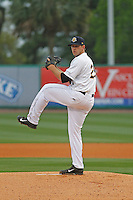 Charleston RiverDogs pitcher Brody Koerner (29) on the mound during a game against the Myrtle Beach Pelicans at Joseph P.Riley Jr. Ballpark on April 6, 2016 in Charleston, South Carolina. Myrtle Beach defeated Charleston 2-0. (Robert Gurganus/Four Seam Images)