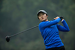 Liu Yu of China tees off at the 16th hole during Round 3 of the World Ladies Championship 2016 on 12 March 2016 at Mission Hills Olazabal Golf Course in Dongguan, China. Photo by Victor Fraile / Power Sport Images
