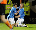 15/12/2009  Copyright  Pic : James Stewart.sct_jspa10_dundee_utd_v-rangers  .:: KENNY MILLER CELEBRATES WITH NACHO NOVO AFTER HE SCORES RANGERS SECOND :: .James Stewart Photography 19 Carronlea Drive, Falkirk. FK2 8DN      Vat Reg No. 607 6932 25.Telephone      : +44 (0)1324 570291 .Mobile              : +44 (0)7721 416997.E-mail  :  jim@jspa.co.uk.If you require further information then contact Jim Stewart on any of the numbers above.........