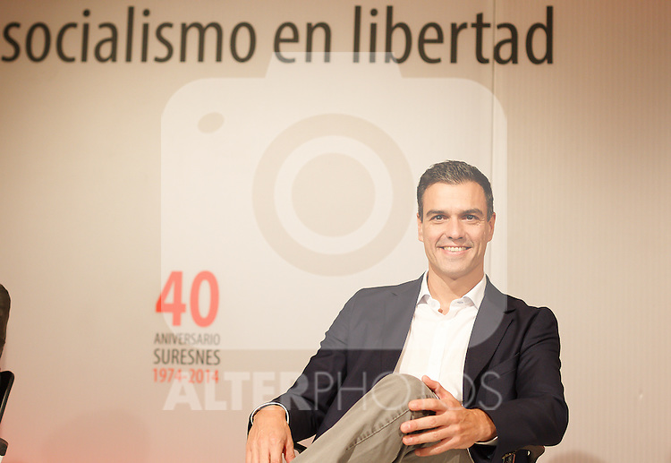 "Madrid,Spain - 16 10 2014- ""politics""-Spanish Socialist Leader Pedro Sanchez during at the 40th anniversary ceremony of the Suresnes Congress (Foto: Guillermo Martinez /Bouza Press)"