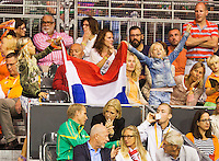 September 14, 2014, Netherlands, Amsterdam, Ziggo Dome, Davis Cup Netherlands-Croatia, Robin Haase (NED)<br /> Photo: Tennisimages/Henk Koster