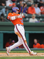 May 11, 2009: Left fielder Wilson Boyd (12) of the Clemson Tigers at bat in a game against the Furman Paladins at Fluor Field at the West End in Greenville, S.C. Photo by: Tom Priddy/Four Seam Images