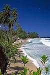 Trinidad & Tobago, Commonwealth, Trinidad, Blanchisseuse Bay: beach in the north