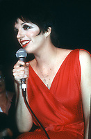 1978 FILE PHOTO<br /> New York, NY<br /> Liza Minelli at Studio 54<br /> Photo by Adam Scull-PHOTOlink.net