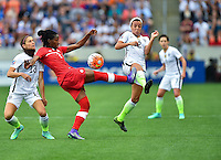 Houston, TX. - February 21, 2016: The U.S. Women's National team faces Canada in the 2016 Women's Olympic Qualifying Championship match at BBVA Compass Stadium.