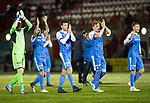 Hamilton Accies v St Johnstone…09.12.17…  New Douglas Park…  SPFL<br />Zander Clark, Richie Foster, Joe Shaughnessy, Liam Craig and David Wotherspoon applaud the fans at full time<br />Picture by Graeme Hart. <br />Copyright Perthshire Picture Agency<br />Tel: 01738 623350  Mobile: 07990 594431
