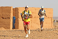 4th October 2021; Tisserdimine to Kourci Dial Zaid;  Marathon des Sables, stage 2 of  a six-day, 251 km ultramarathon, which is approximately the distance of six regular marathons. The longest single stage is 91 km long. This multiday race is held every year in southern Morocco, in the Sahara Desert. Abdelaziz Baghazza (MOR)