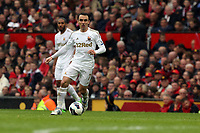 Pictured: Leon Britton. <br /> Sunday 12 May 2013<br /> Re: Barclay's Premier League, Manchester City FC v Swansea City FC at the Old Trafford Stadium, Manchester.