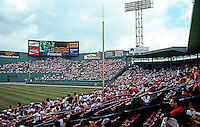 Ballparks: Boston Fenway Park. Panorama--before the game. (1991)