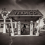 """GAS FROM THE PAST -- I still remember the old slogan, """"You Can Trust Your Car to the Man Who Wears the Star"""" -- a vintage gas station on the way to Galena, Illinois, USA. #michaelknapstein #midwestmemoir #blackandwhite #B&W #monochrome #motherfstop #wisconsin  #bwphotography #myfeatureshoot  #fineartphotography #americanmidwest #squaremag #lensculture #mifa #moscowfotoawards #moscowinternationalfotoawards #rps #royalphotographicsociety #CriticalMass #CriticalMassTop200 #photolucida  #portfolioshowcase11 #thegalaawards #thepolluxawards #flakphoto #ipe160 #ipe161 #grainedephotographe  #galleryofwisconsinart"""
