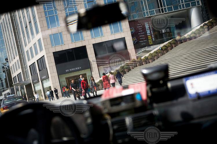 On the way to the Oriental Plaza, a luxury mall on Wangfujing Street.