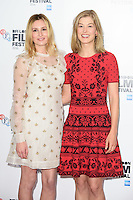 """Laura Carmichael and Rosamund Pike<br /> at the London Film Festival photocall for the opening film, """"A United Kingdom"""", Mayfair HotelLondon.<br /> <br /> <br /> ©Ash Knotek  D3159  05/10/2016"""