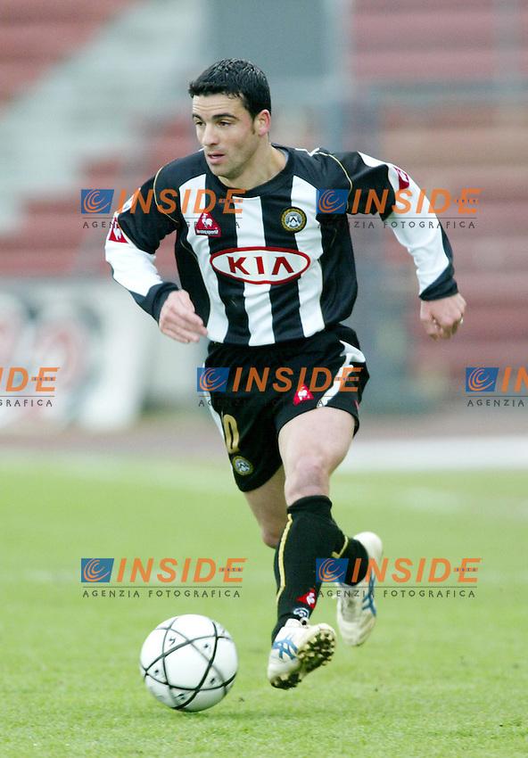 Udine 23-01-2005<br /> <br /> Campionato  Serie A Tim 2004-2005<br /> <br /> Udinese Reggina 0-2<br /> <br /> nella  foto Antonio Di Natale Udinese<br /> <br /> Foto Snapshot / Insidefoto