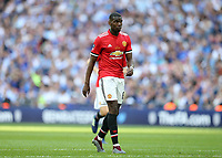 19th May 2018, Wembley Stadium, London, England; FA Cup Final football, Chelsea versus Manchester United; Paul Pogba of Manchester United walks forward into position