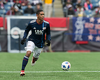 Foxborough, Massachusetts - March 10, 2018: In a Major League Soccer (MLS) match, New England Revolution (blue/white) defeated Colorado Rapids (yellow/blue), 2-1, at Gillette Stadium.