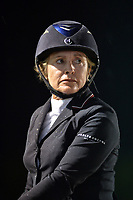 WELLINGTON, FL - APRIL 02: Grand prix action at the 2016 Winter Equestrian Festival (WEF) concluded with an exciting international showdown Saturday night as Great Britain's Ben Maher and Jane Clark's Sarena jumped to victory in the $500,000 Rolex Grand Prix CSI 5*. The finale grand prix for the winter circuit, Maher and Sarena topped a seven-horse jump-off, with McLain Ward (USA) and HH Azur in second, and Meredith Michaels-Beerbaum (GER) and Fibonacci 17 third. The Winter Equestrian Festival (WEF) is the largest, longest running hunter/jumper equestrian event in the world held at the Palm Beach International Equestrian Center on April 2, 2016  in Wellington, Florida.<br /> <br /> <br /> People:  Margie Goldstein-Engle