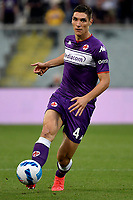 Nikola Milenkovic of ACF Fiorentina in action during the Serie A 2021/2022 football match between ACF Fiorentina and SSC Napoli at Artemio Franchi stadium in Florence (Italy), October 3rd, 2021. Photo Andrea Staccioli / Insidefoto