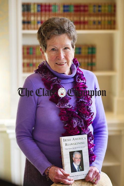 "Deirdre Mc Kiernan Hetzler who has written a book ""Irish America Reawakening"" the Eoin Mc Kiernan Story on her dad's involvement in Ireland and Irish America. Photograph by John Kelly."