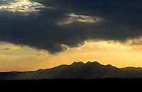 Aug. 14, 2012, Fountain Hills, AZ; Sunrise desert Arizona mountain clouds Four Peaks  Mandatory Credit: Mark J. Rebilas
