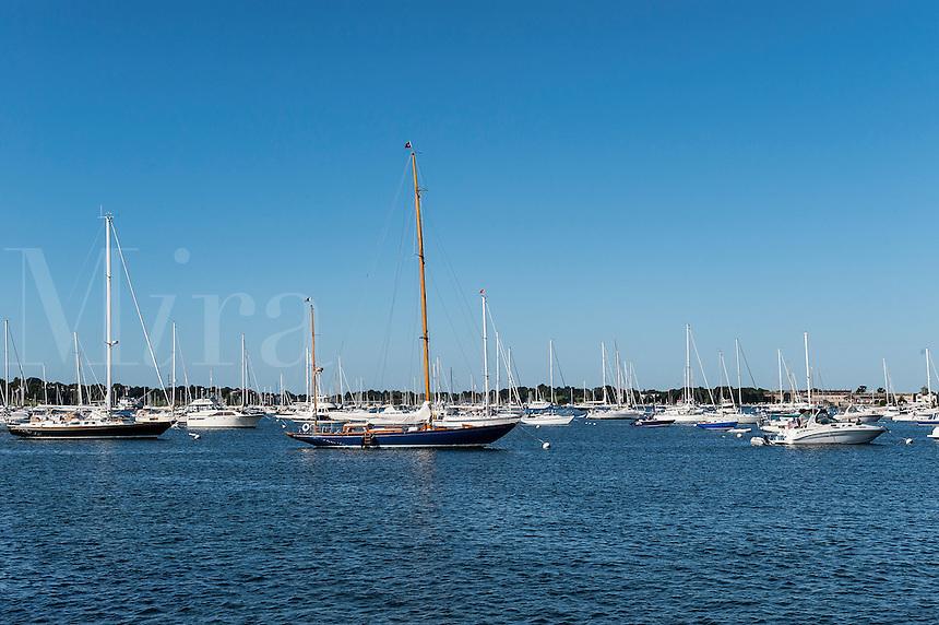 Boats in harbor, Newport, Rhode Island, USA