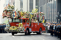 May 1987 File Photo - Montreal (Qc) CANADA  - funerals at Notre-dame Basilica  for 2 firemen who died.