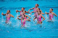 Team Mexico MEX<br /> Synchro Women's Team Free Final Free Routine - Kazan Arena<br /> Day08 31/07/2015<br /> XVI FINA World Championships Aquatics Swimming<br /> Kazan Tatarstan RUS July 24 - Aug. 9 2015 <br /> Photo A.Masini/Deepbluemedia/Insidefoto