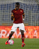 Calcio, Serie A: Roma vs Inter. Roma, stadio Olimpico, 19 marzo 2016.<br /> Roma's Antonio Ruediger in action during the Italian Serie A football match between Roma and FC Inter at Rome's Olympic stadium, 19 March 2016. The game ended 1-1.<br /> UPDATE IMAGES PRESS/Riccardo De Luca