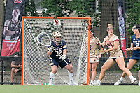 NEWTON, MA - MAY 22: Bridget Deehan #32 of Notre Dame during NCAA Division I Women's Lacrosse Tournament quarterfinal round game between Notre Dame and Boston College at Newton Campus Lacrosse Field on May 22, 2021 in Newton, Massachusetts.