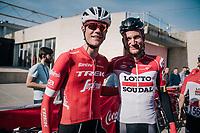 buddies Jasper Stuyven (BEL/Trek-Segafredo) & Tim Wellens (BEL/Lotto-Soudal) ahead of the race<br /> <br /> 27th Challenge Ciclista Mallorca 2018<br /> Trofeo Campos-Porreres-Felanitx-Ses Salines: 176km