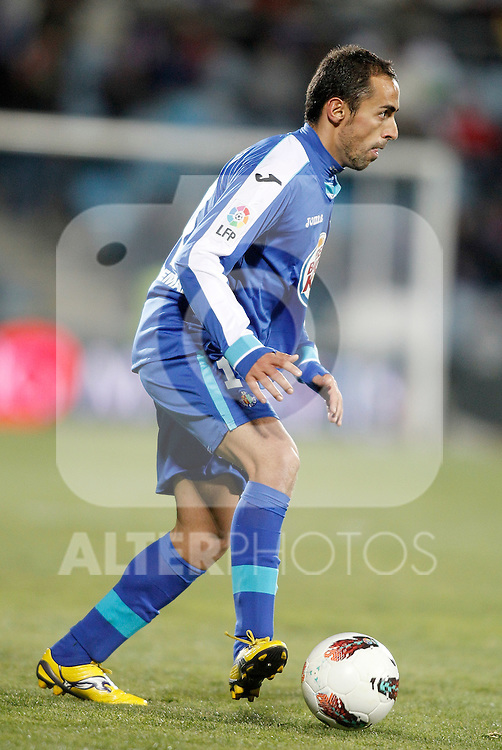 Getafe's Diego Castro during La Liga match. February 04, 2012. (ALTERPHOTOS/Alvaro Hernandez)
