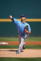 Tampa Bay Rays starting pitcher Matt Andriese (35) delivers a pitch during a Spring Training game against the Pittsburgh Pirates on March 10, 2017 at LECOM Park in Bradenton, Florida.  Pittsburgh defeated New York 4-1.  (Mike Janes/Four Seam Images)