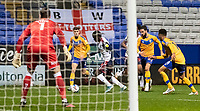 Bolton Wanderers' Arthur Gnahoua (centre) breaks on goal <br /> <br /> Photographer Andrew Kearns/CameraSport<br /> <br /> The EFL Sky Bet League Two - Bolton Wanderers v Mansfield Town - Tuesday 3rd November 2020 - University of Bolton Stadium - Bolton<br /> <br /> World Copyright © 2020 CameraSport. All rights reserved. 43 Linden Ave. Countesthorpe. Leicester. England. LE8 5PG - Tel: +44 (0) 116 277 4147 - admin@camerasport.com - www.camerasport.com