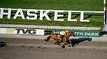 OCEANPORT, NJ - JULY 29: on Haskell Invitational Day at Monmouth Park Race Course on July 29, 2018 in Oceanport, New Jersey. (Photo by Diana Cohen/Eclipse Sportswire/Getty Images)