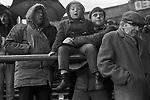Family group at a Coventry City football match 1981. 1980s UK