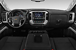 Stock photo of straight dashboard view of 2017 Chevrolet Silverado-3500HD LT-Crew-DRW 4 Door Pick-up Dashboard
