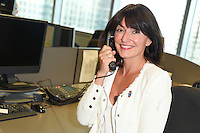 Davina McCall<br /> on the trading floor for the BGC Charity Day 2016, Canary Wharf, London.<br /> <br /> <br /> ©Ash Knotek  D3152  12/09/2016