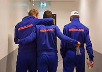 September 10, 2014,Netherlands, Amsterdam, Ziggo Dome, Davis Cup Netherlands-Croatia, Press conference, Dutch team , Team spirit<br /> Photo: Tennisimages/Henk Koster